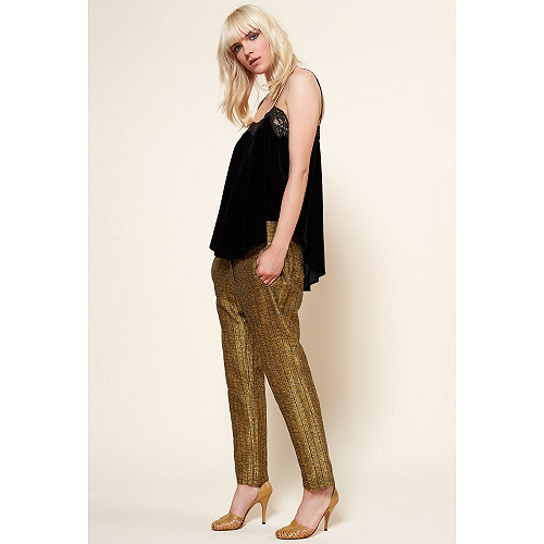 Gold  PANT  Shalamar Mes demoiselles fashion clothes designer Paris