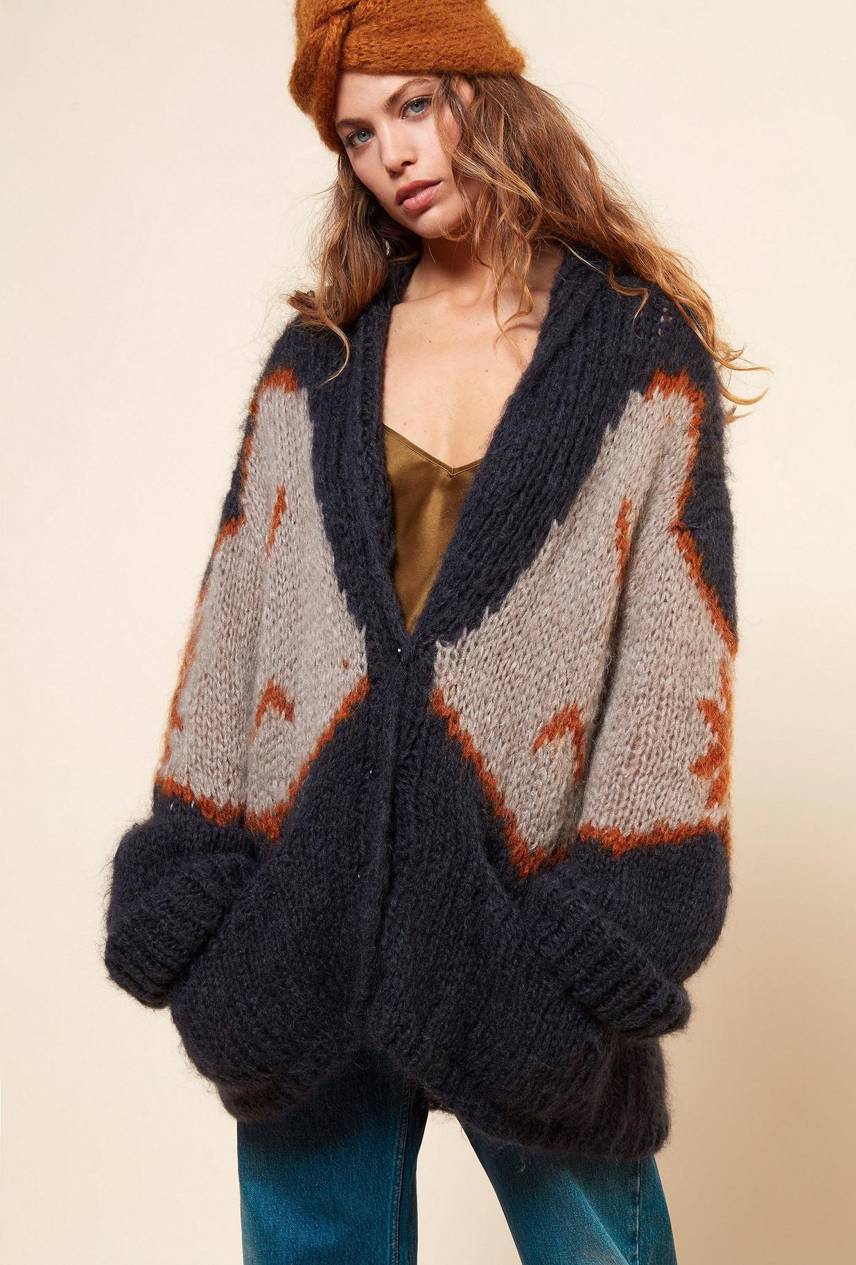 Grey print  Knit  Siegfried Mes demoiselles fashion clothes designer Paris