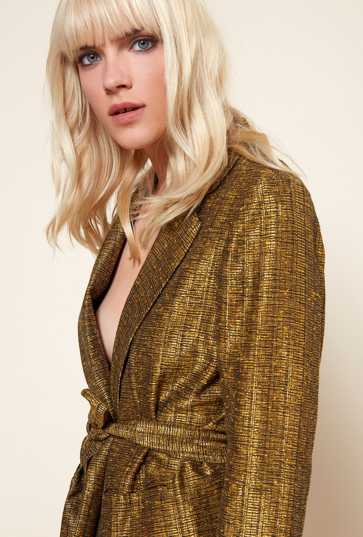 Gold  JACKET  Sledge Mes demoiselles fashion clothes designer Paris