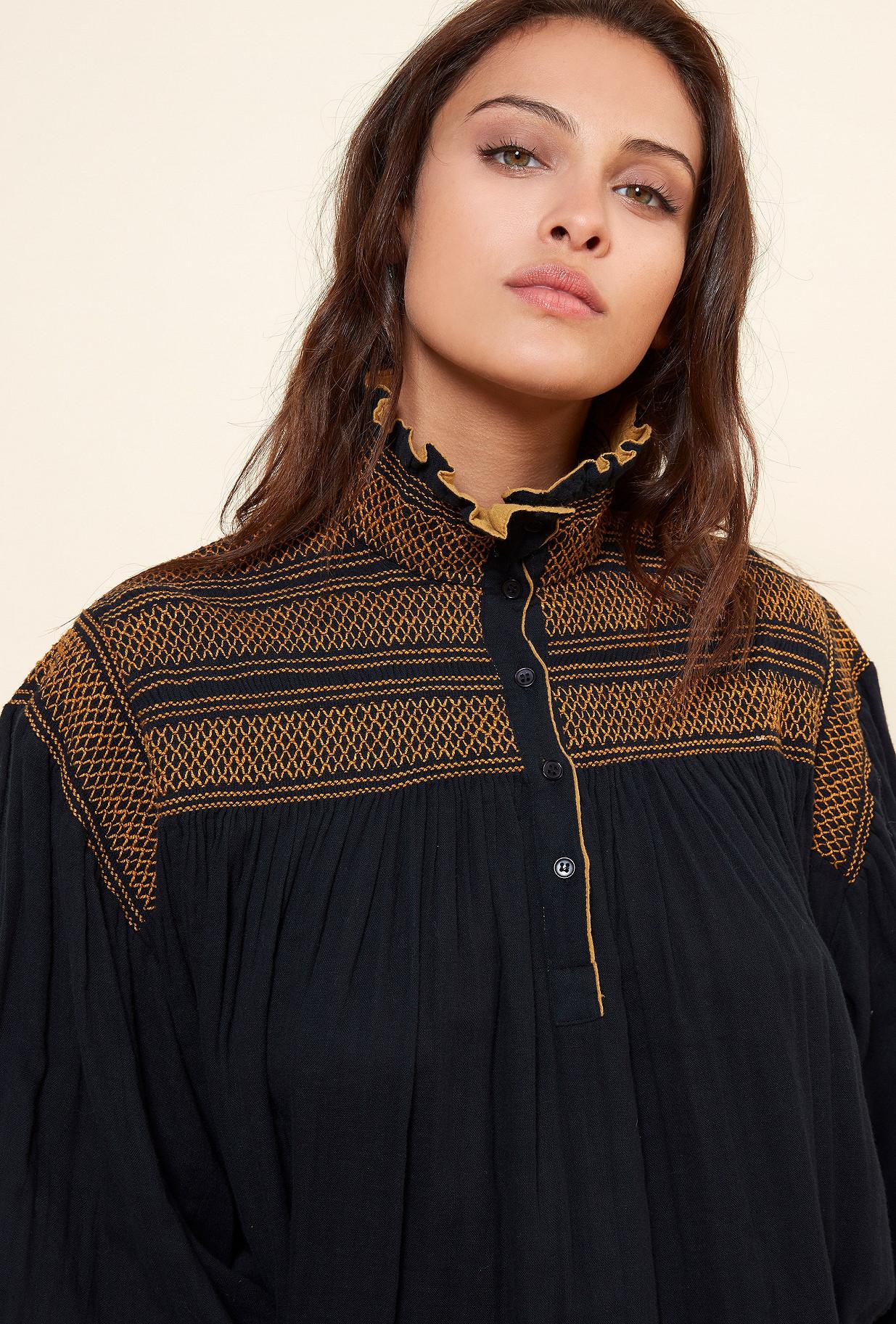 Black  Blouse  Tartuffe Mes demoiselles fashion clothes designer Paris