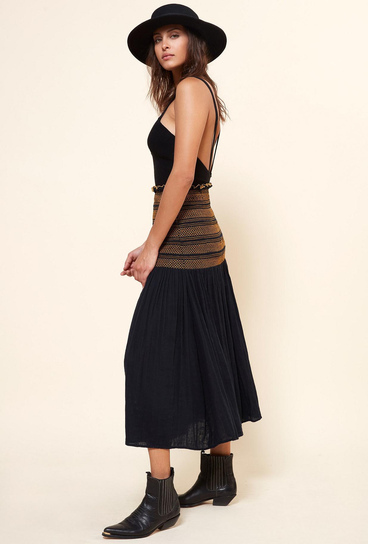 Paris boutique de mode vêtement Jupe créateur bohème  Toinette