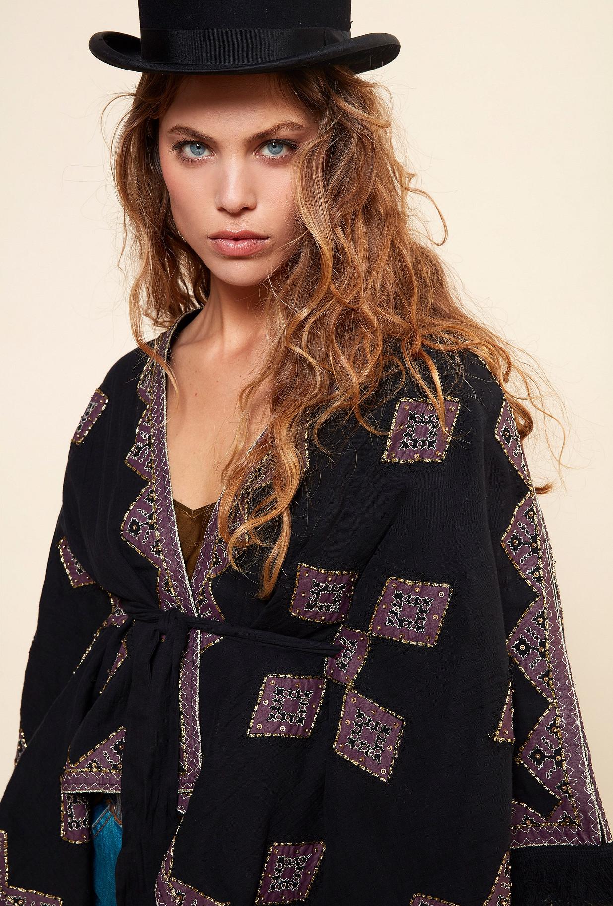 Black  KIMONO  Zoia Mes demoiselles fashion clothes designer Paris