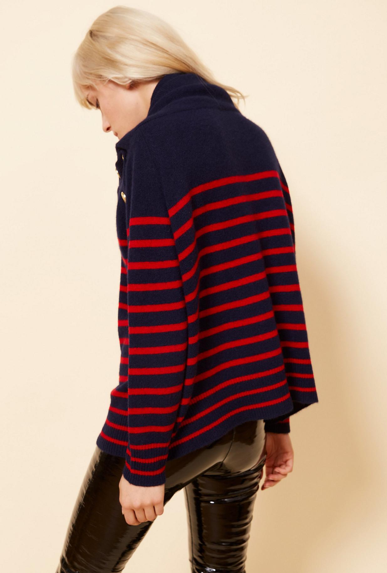Navy  Knit  Corsaire Mes demoiselles fashion clothes designer Paris
