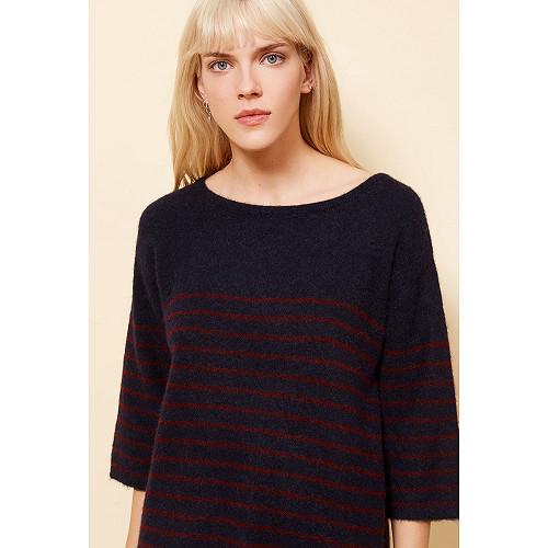 Navy  Sweater  Autissier Mes demoiselles fashion clothes designer Paris