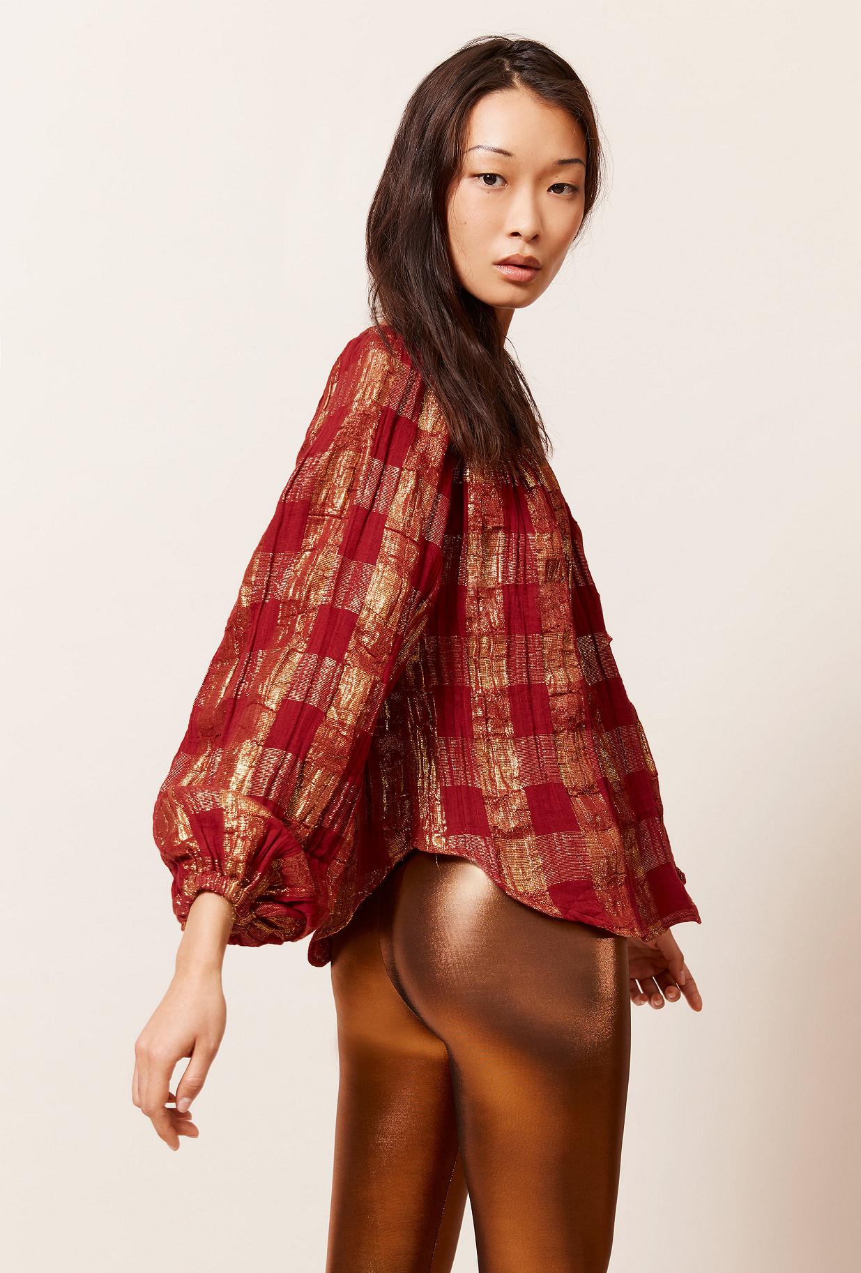 Blouse  Blouse Mojdeh 90%co 10%mtf Pes(at L 100% Co) Mes demoiselles fashion clothes designer Paris