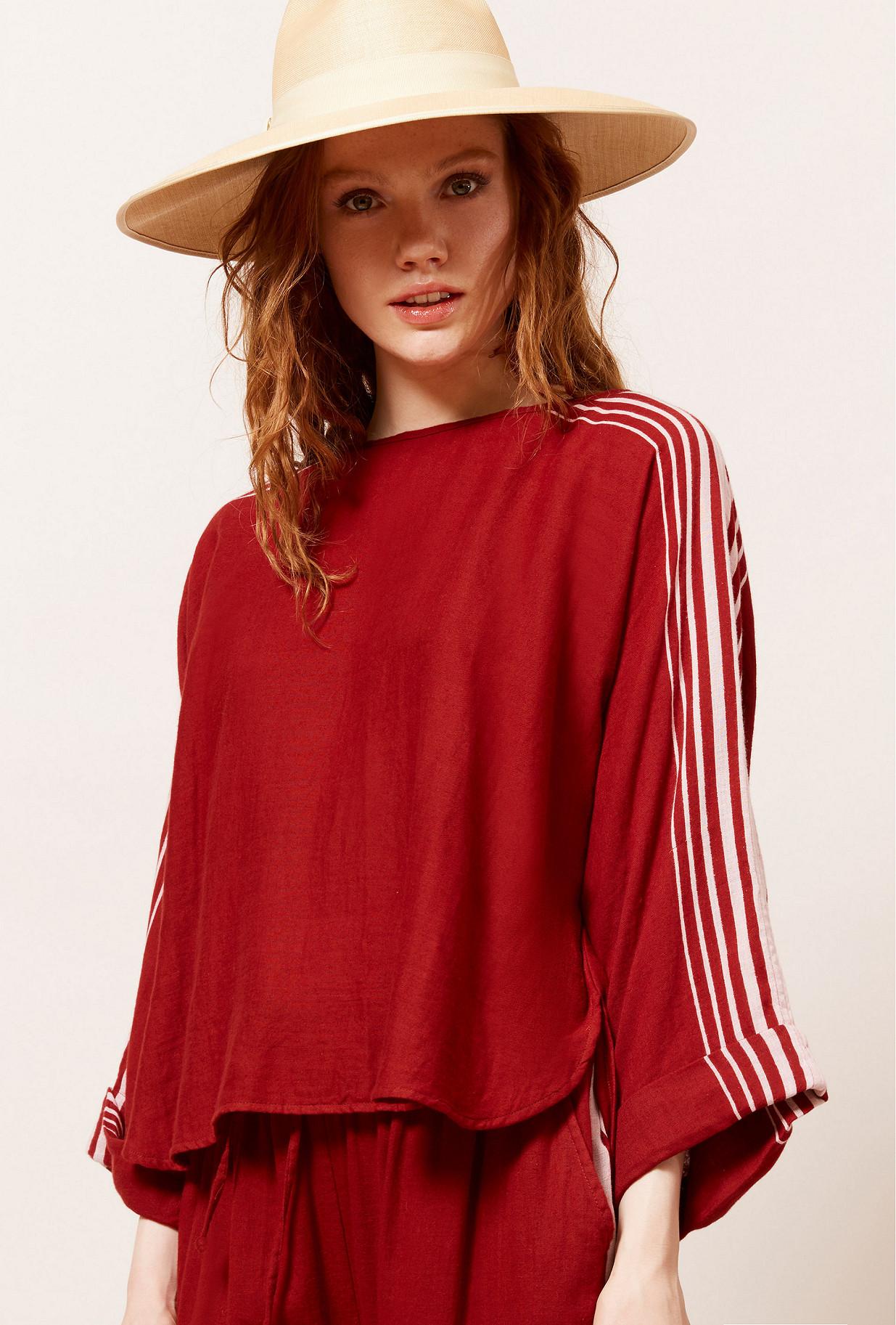 Red  Blouse  Avantstella Mes demoiselles fashion clothes designer Paris