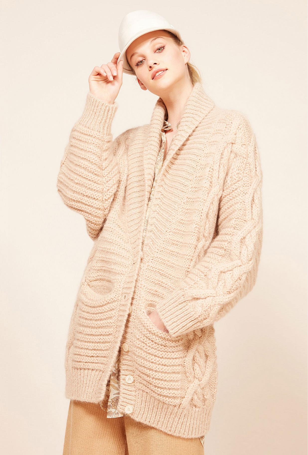 Beige  Cardigan  Coaz Mes demoiselles fashion clothes designer Paris