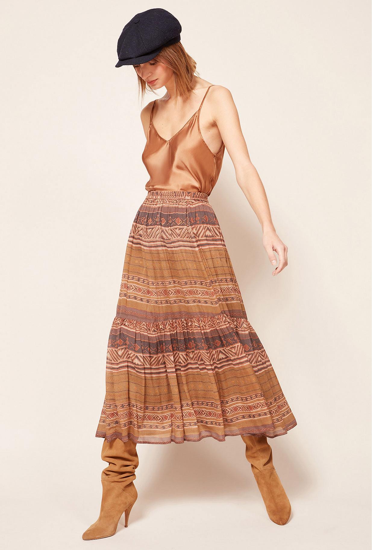 Parma print  Skirt  Contralto Mes demoiselles fashion clothes designer Paris