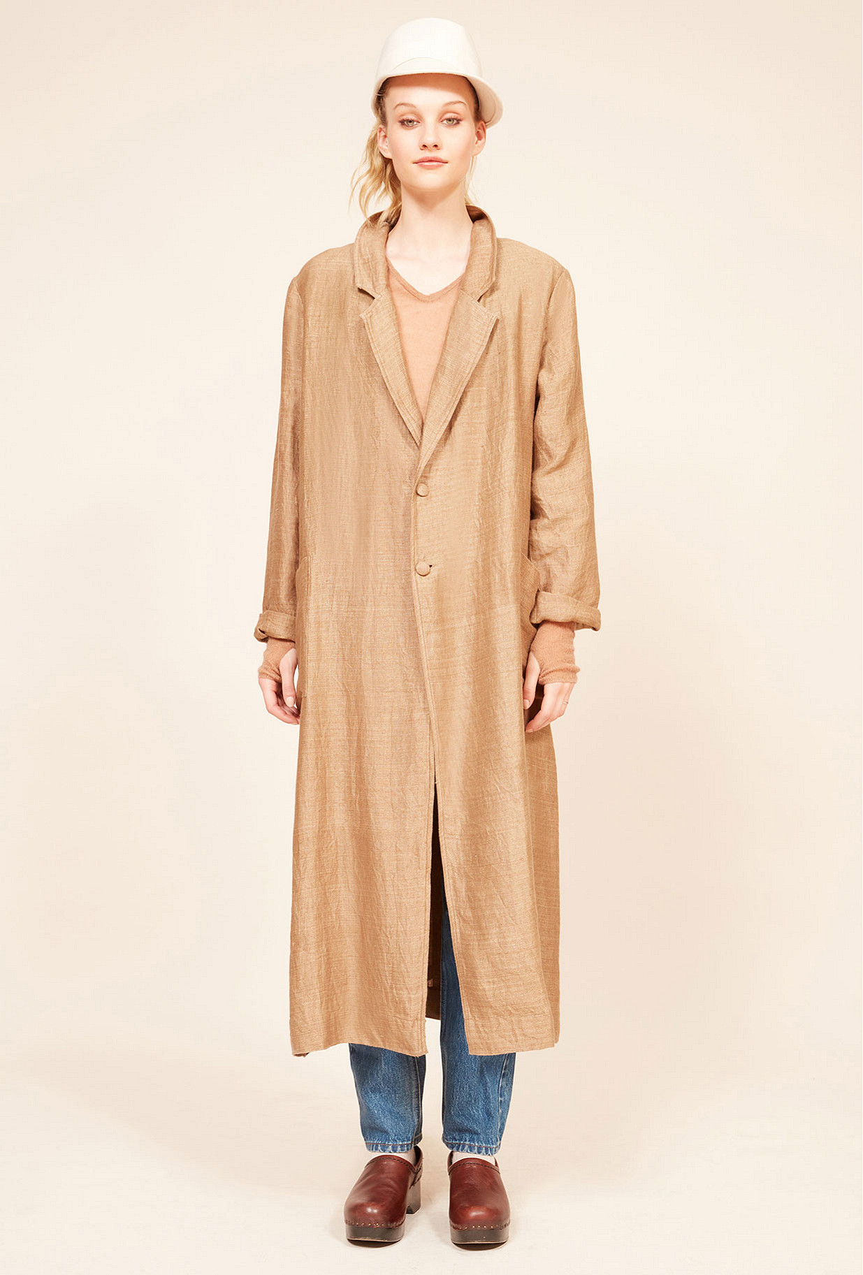 Natural  Coat  Sahara Mes demoiselles fashion clothes designer Paris
