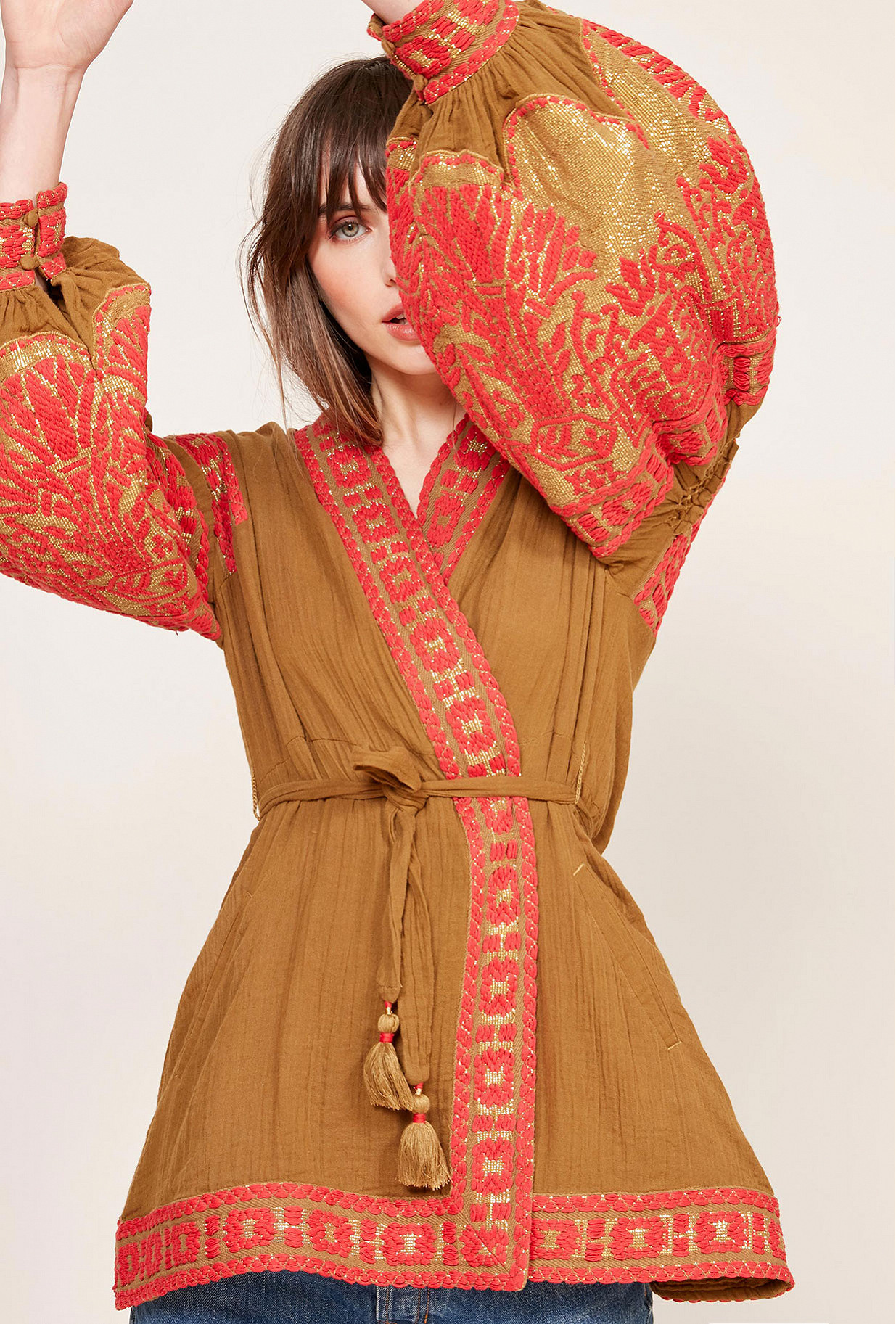 Kimono Khaki  Kasak mes demoiselles paris vêtement femme paris