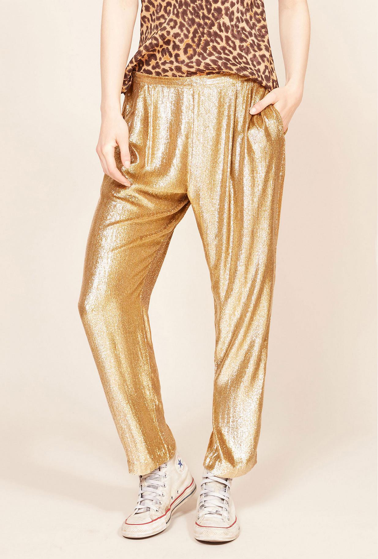 Gold  pant  Holmes Mes demoiselles fashion clothes designer Paris