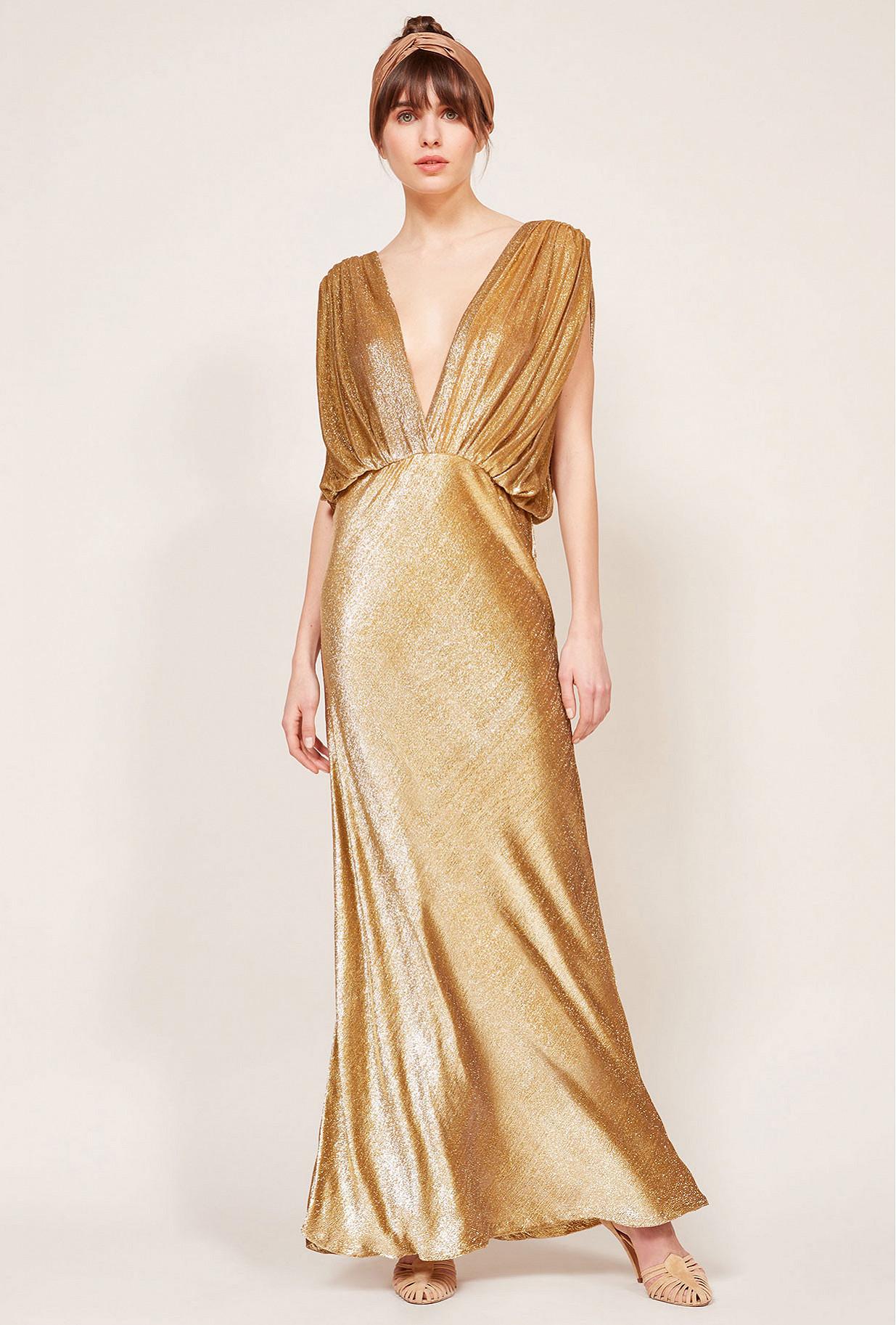 Gold Dress Helen Mes Demoiselles Paris
