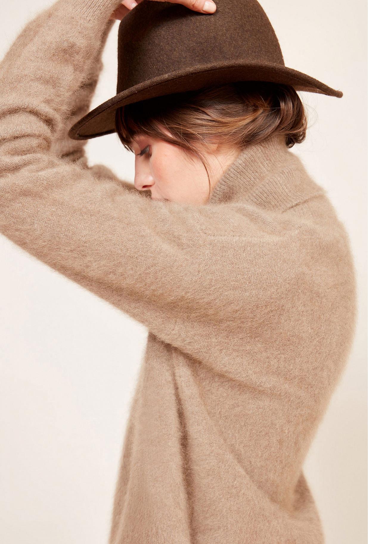 Taupe  Sweater  Ernest Mes demoiselles fashion clothes designer Paris