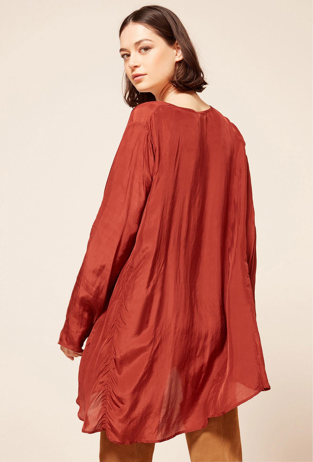 Red  Blouse  Mitsu Mes demoiselles fashion clothes designer Paris
