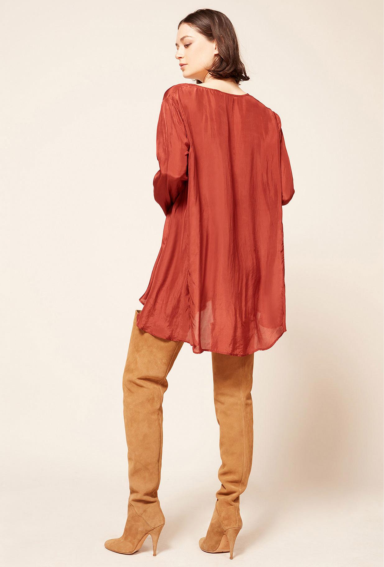 Blouse Rouge  Mitsu mes demoiselles paris vêtement femme paris