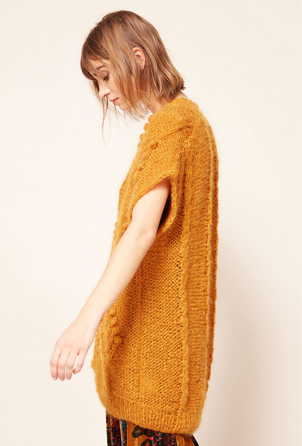 Ocre  Jacket  Clarisse Mes demoiselles fashion clothes designer Paris