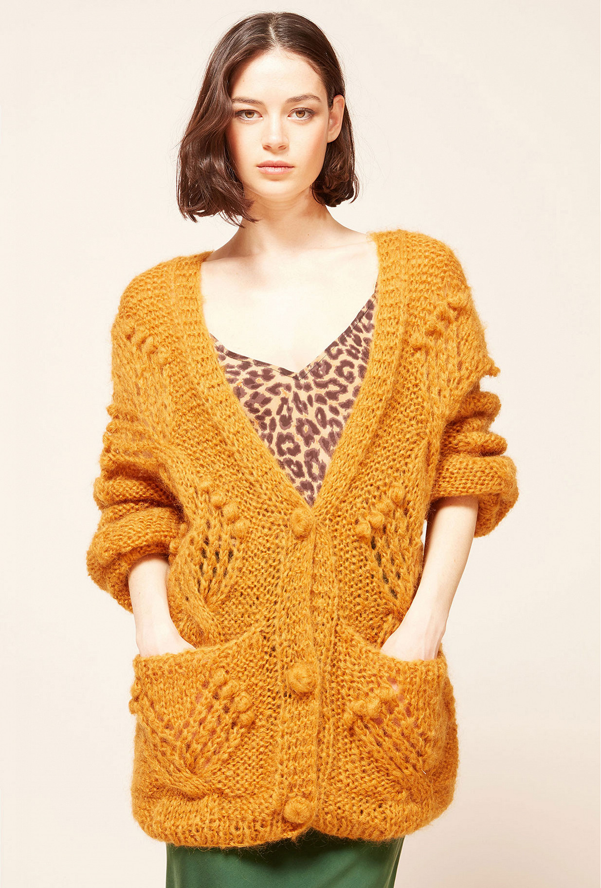Ocre Cardigan Clarence