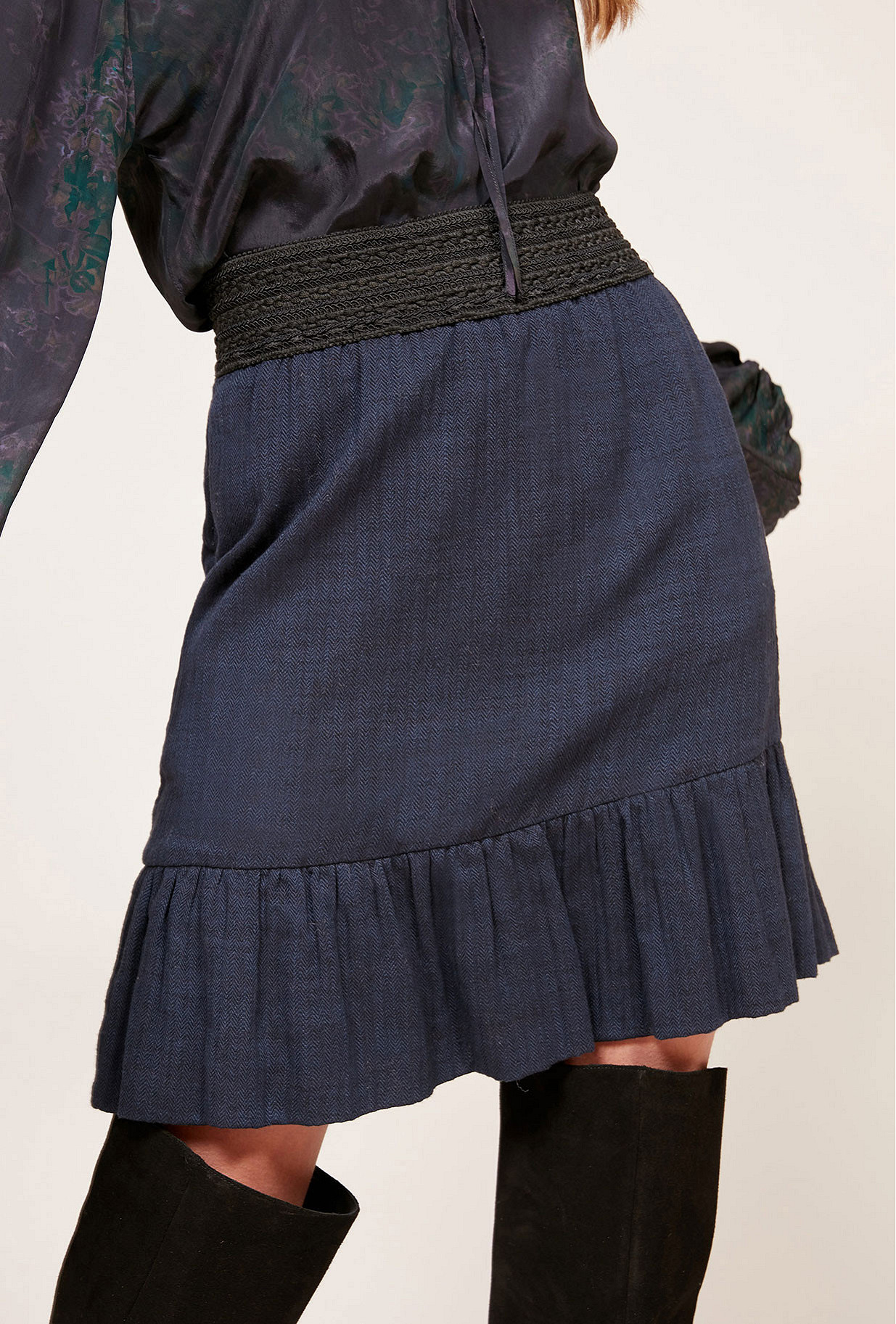 Blue  Skirt  Babko Mes demoiselles fashion clothes designer Paris