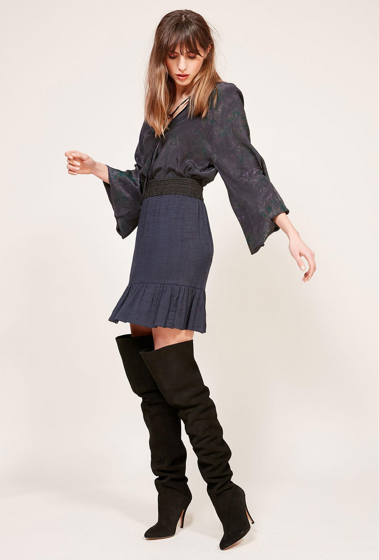 Jupe Bleu  Babko mes demoiselles paris vêtement femme paris