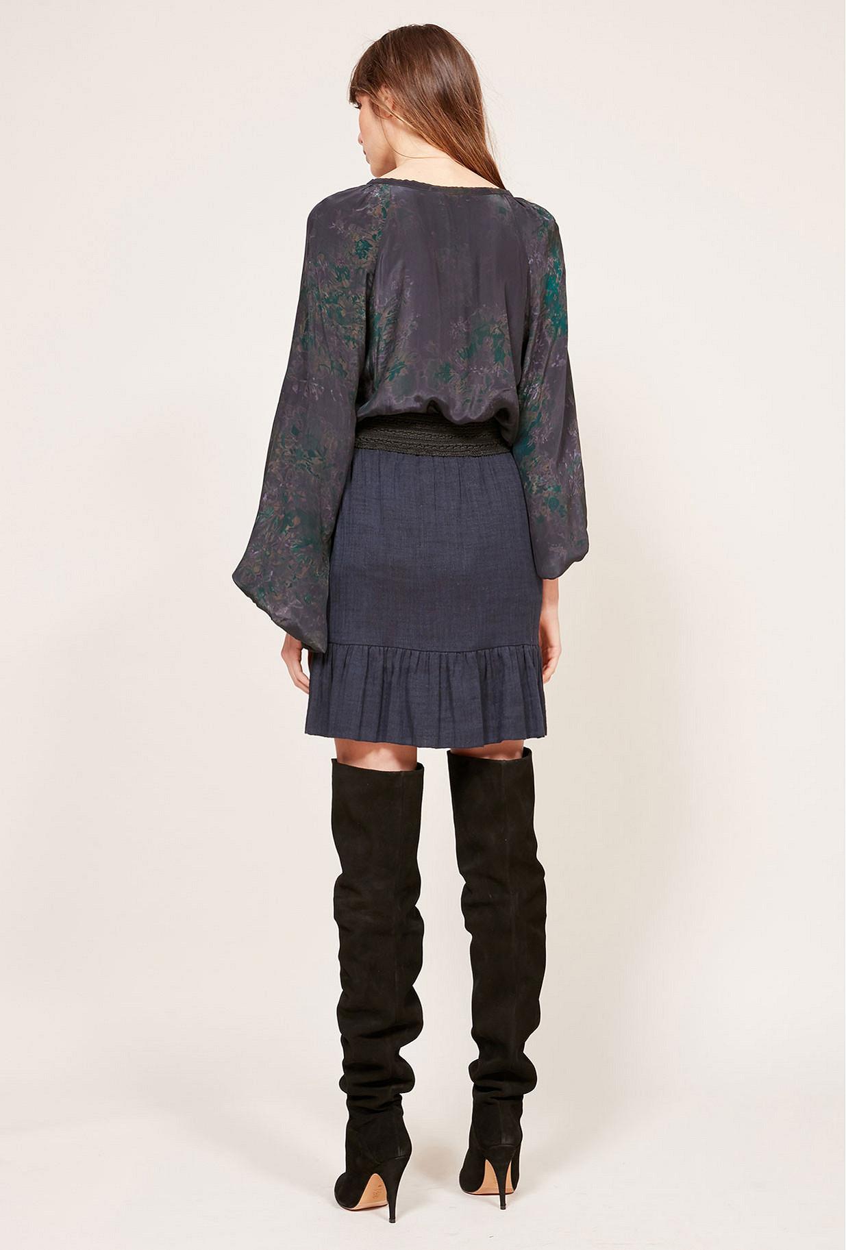 Blue Skirt Babko Mes Demoiselles Paris