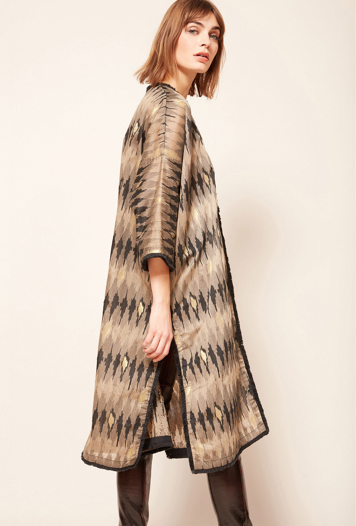 Grey print Kimono Jakarta
