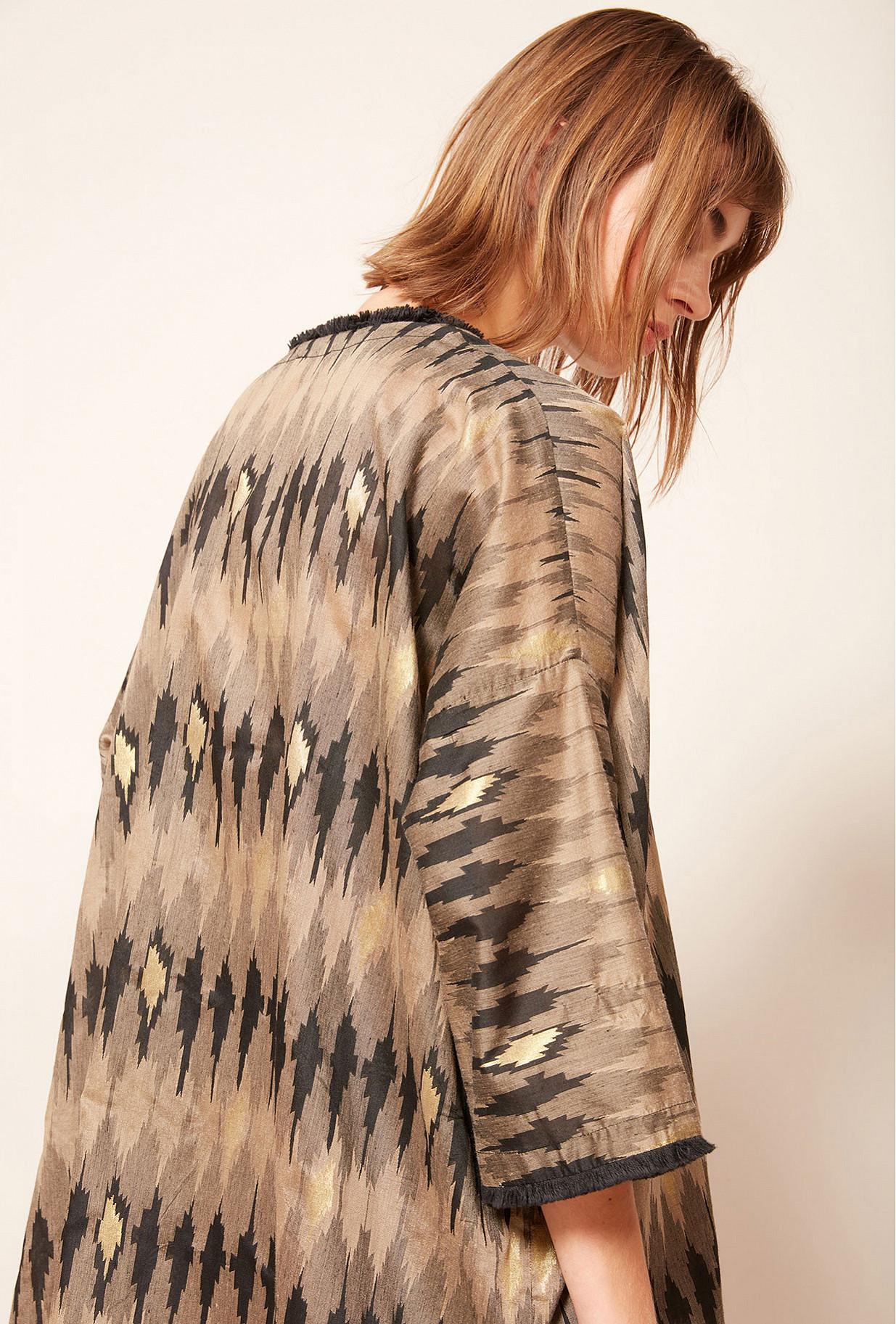 Kimono Imprimé gris Jakarta Mes Demoiselles Paris