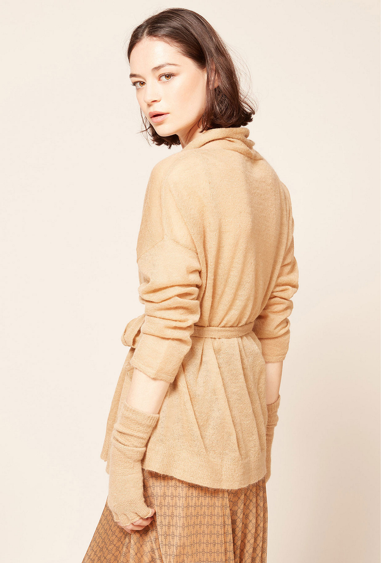 Camel  Cardigan  Saxofon Mes demoiselles fashion clothes designer Paris