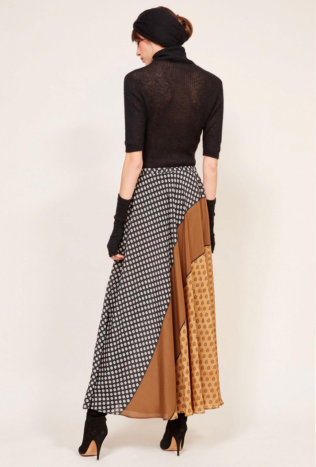 Beige print Skirt Brakid Mes Demoiselles Paris