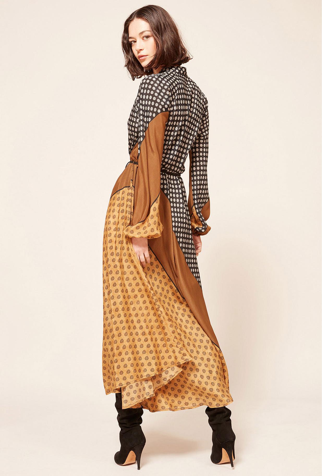 Robe Imprimé Beige  Brange mes demoiselles paris vêtement femme paris