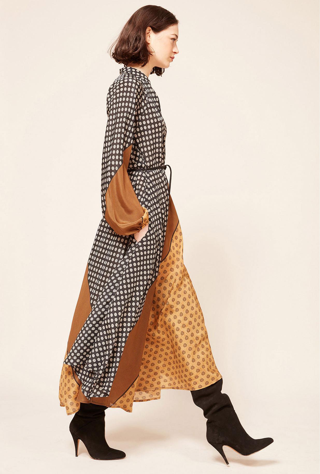 Beige print Dress Brange