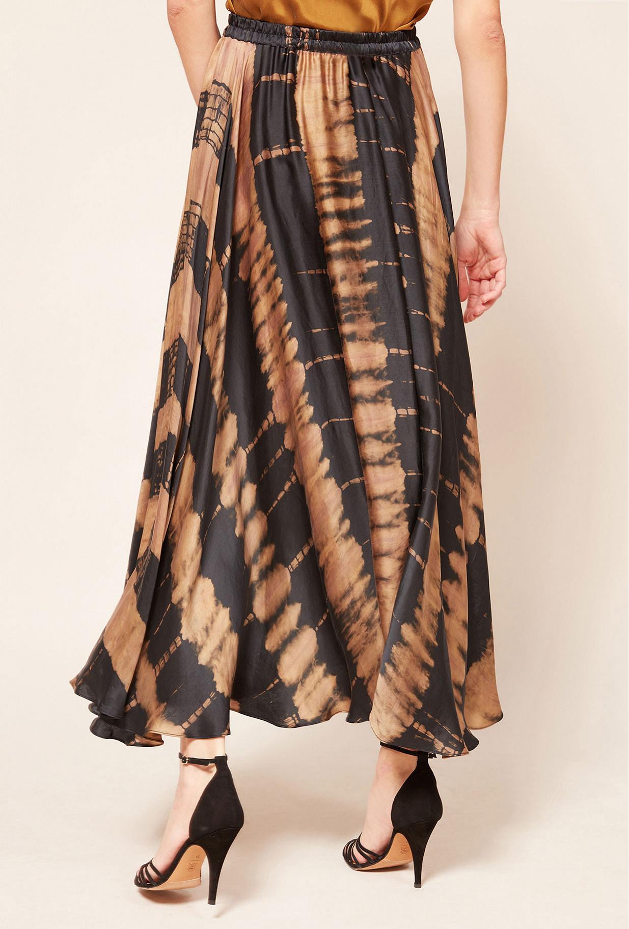 Brown print  Skirt  Danish Mes demoiselles fashion clothes designer Paris