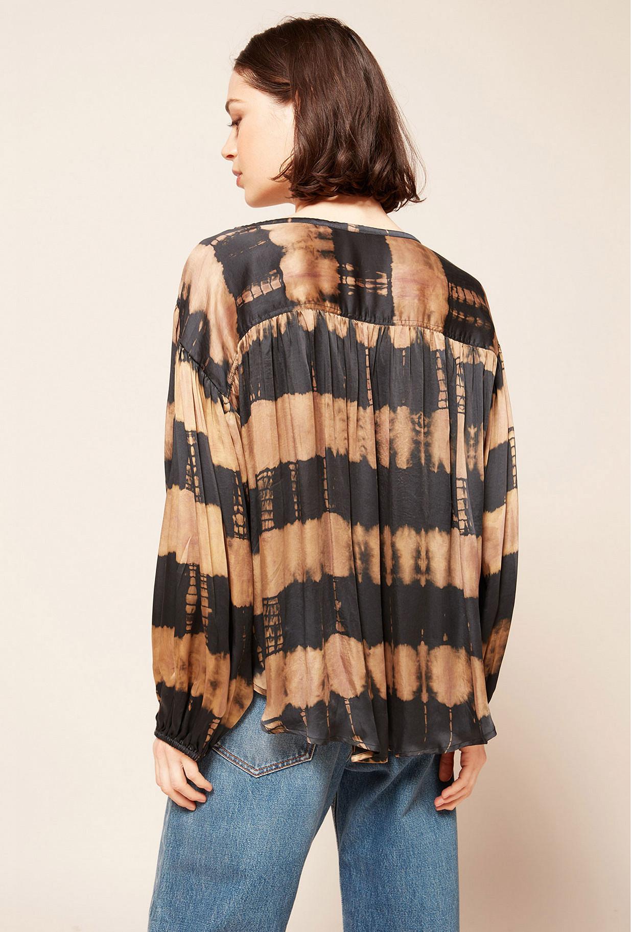 Brown print  Blouse  Danoise Mes demoiselles fashion clothes designer Paris