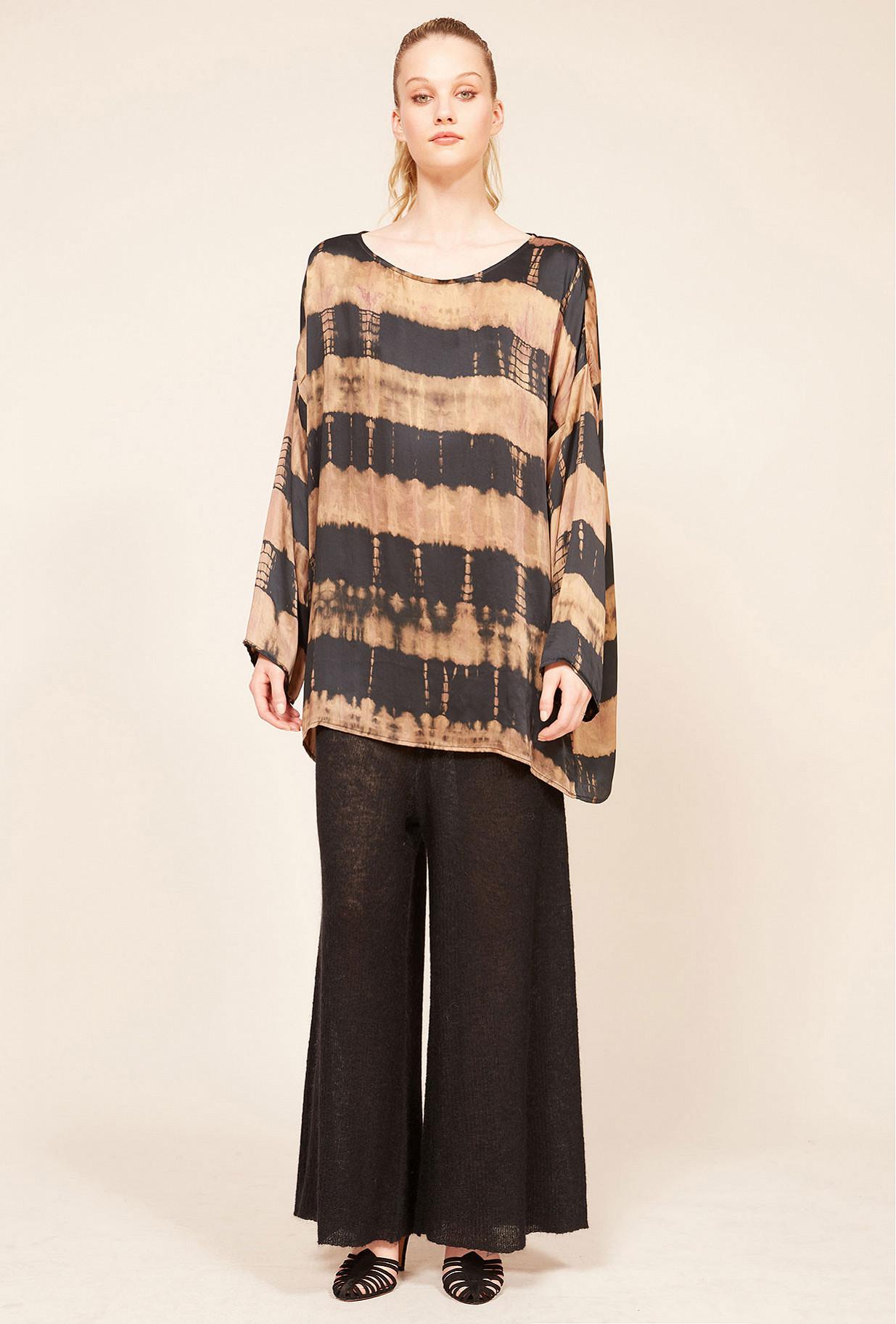 Brown print  Top  Drake Mes demoiselles fashion clothes designer Paris