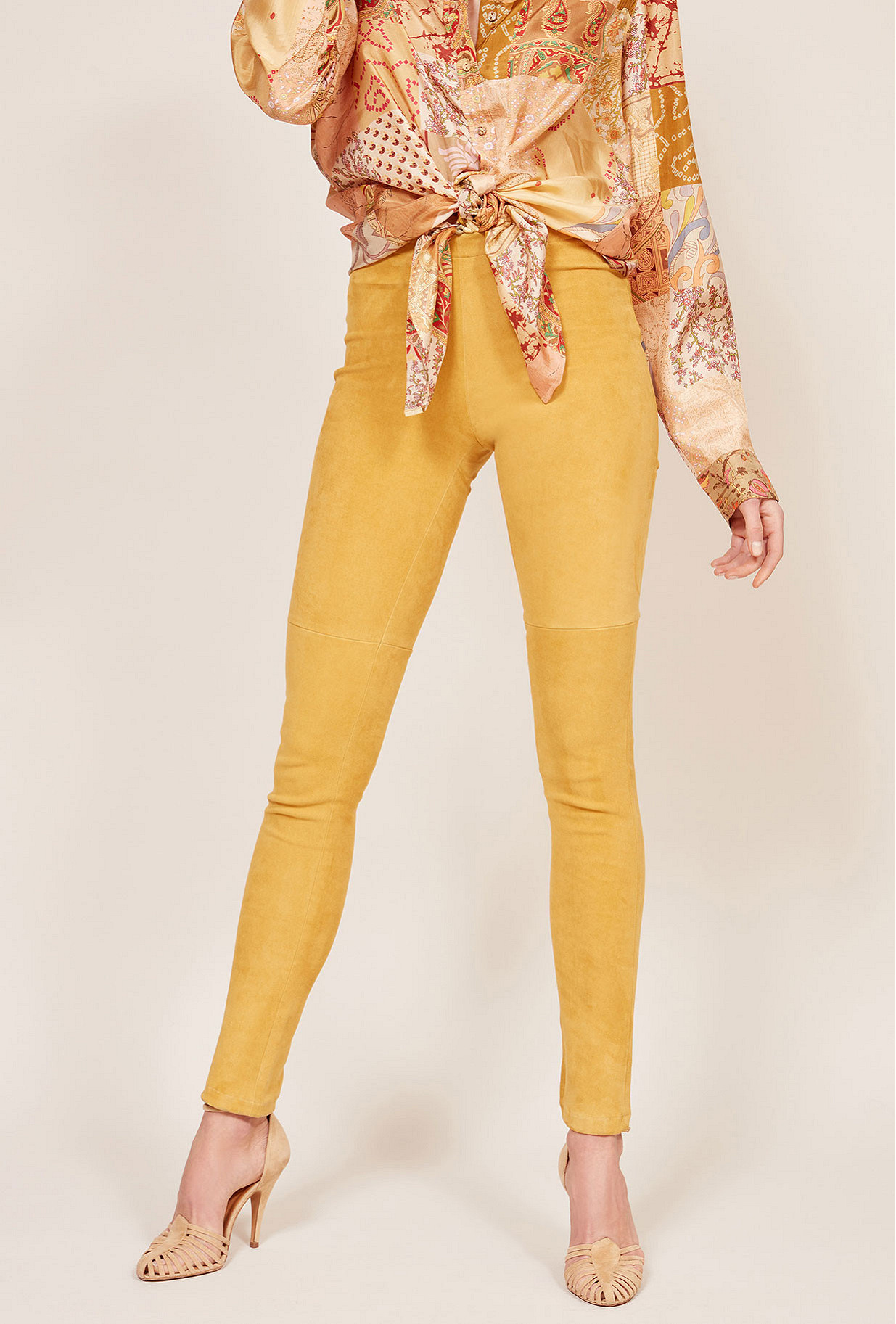 Legging Jaune  Esther mes demoiselles paris vêtement femme paris