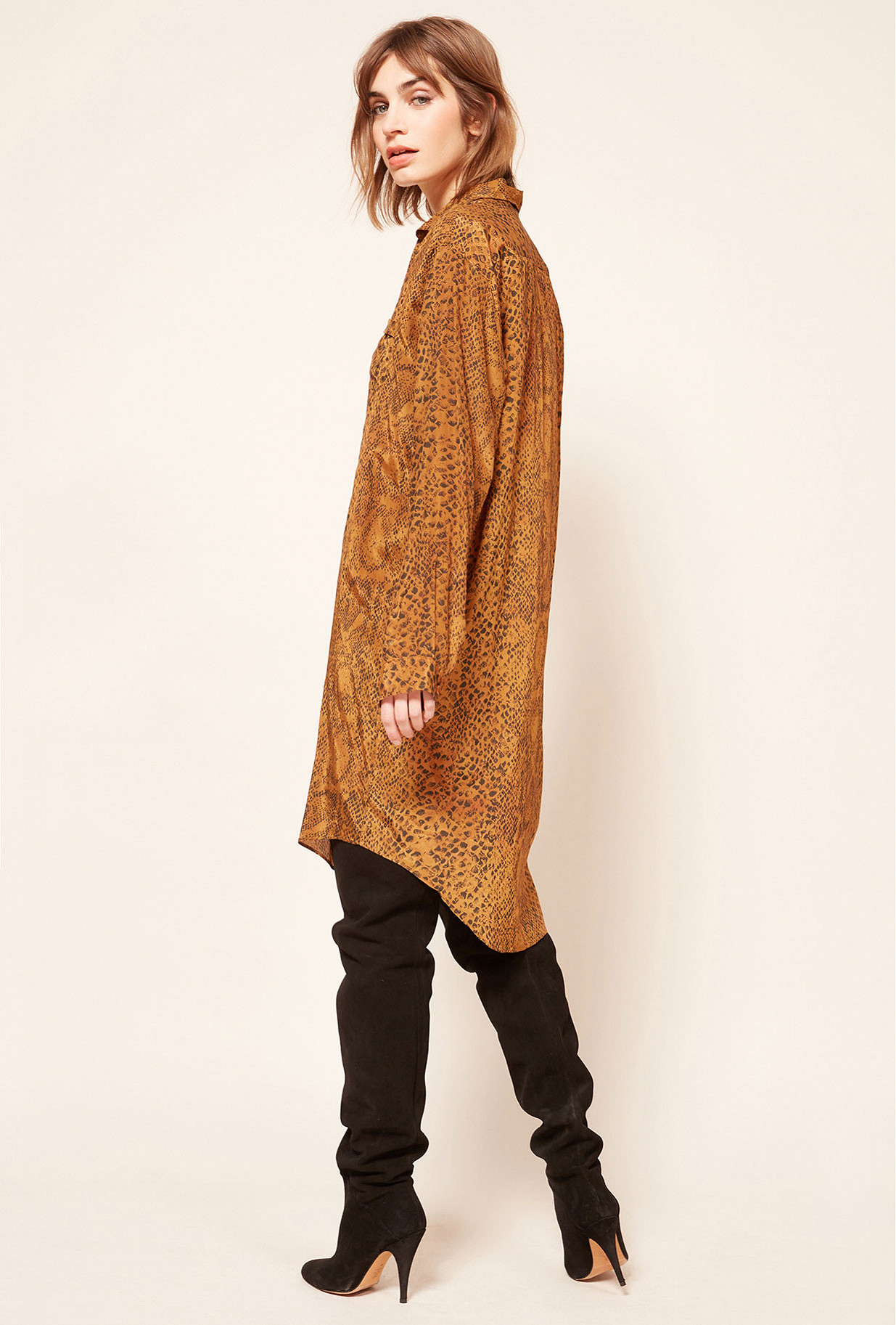 Ocre print  Shirt  Kaa Mes demoiselles fashion clothes designer Paris