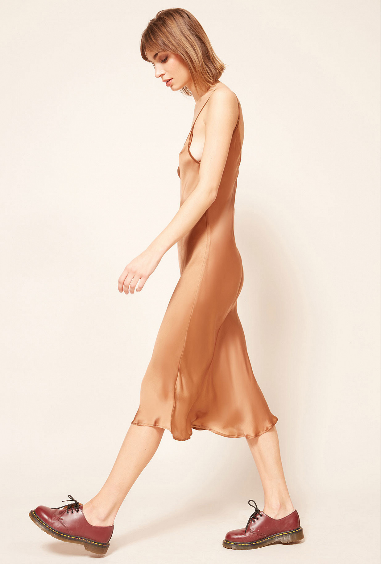 Chestnut  Dress  Lilly Mes demoiselles fashion clothes designer Paris