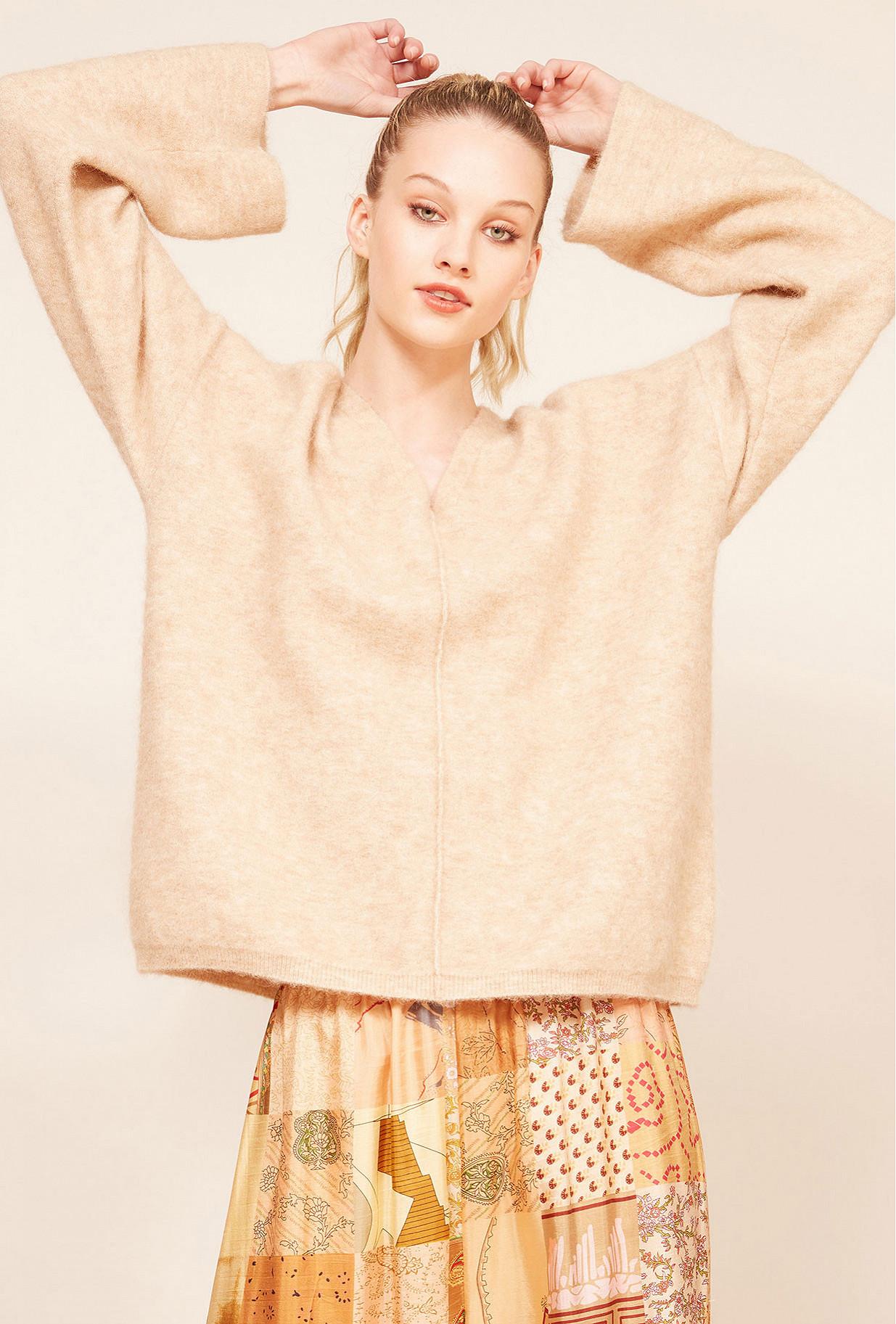 Beige  Sweater  Nilo Mes demoiselles fashion clothes designer Paris