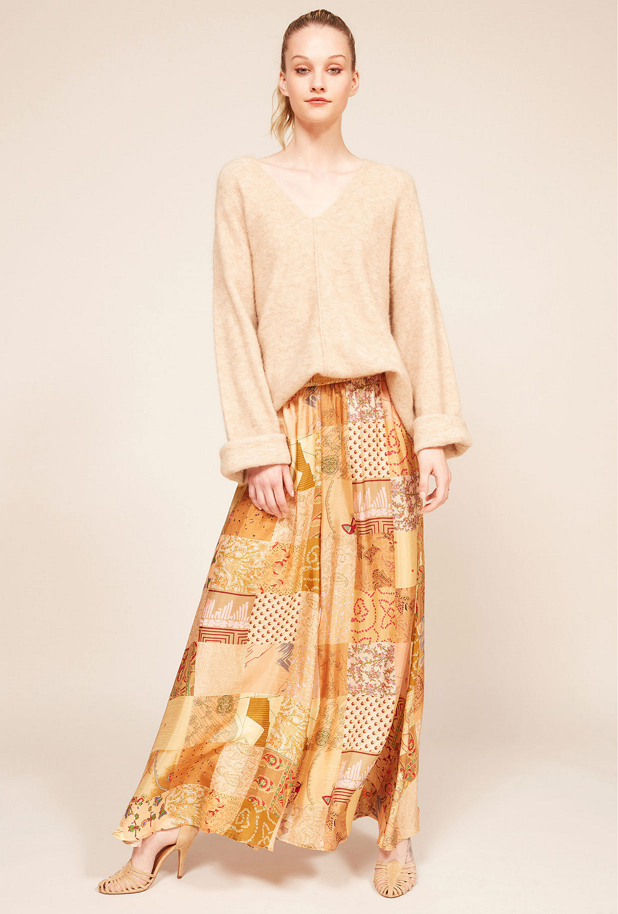 Beige combo  pant  Pachamama Mes demoiselles fashion clothes designer Paris