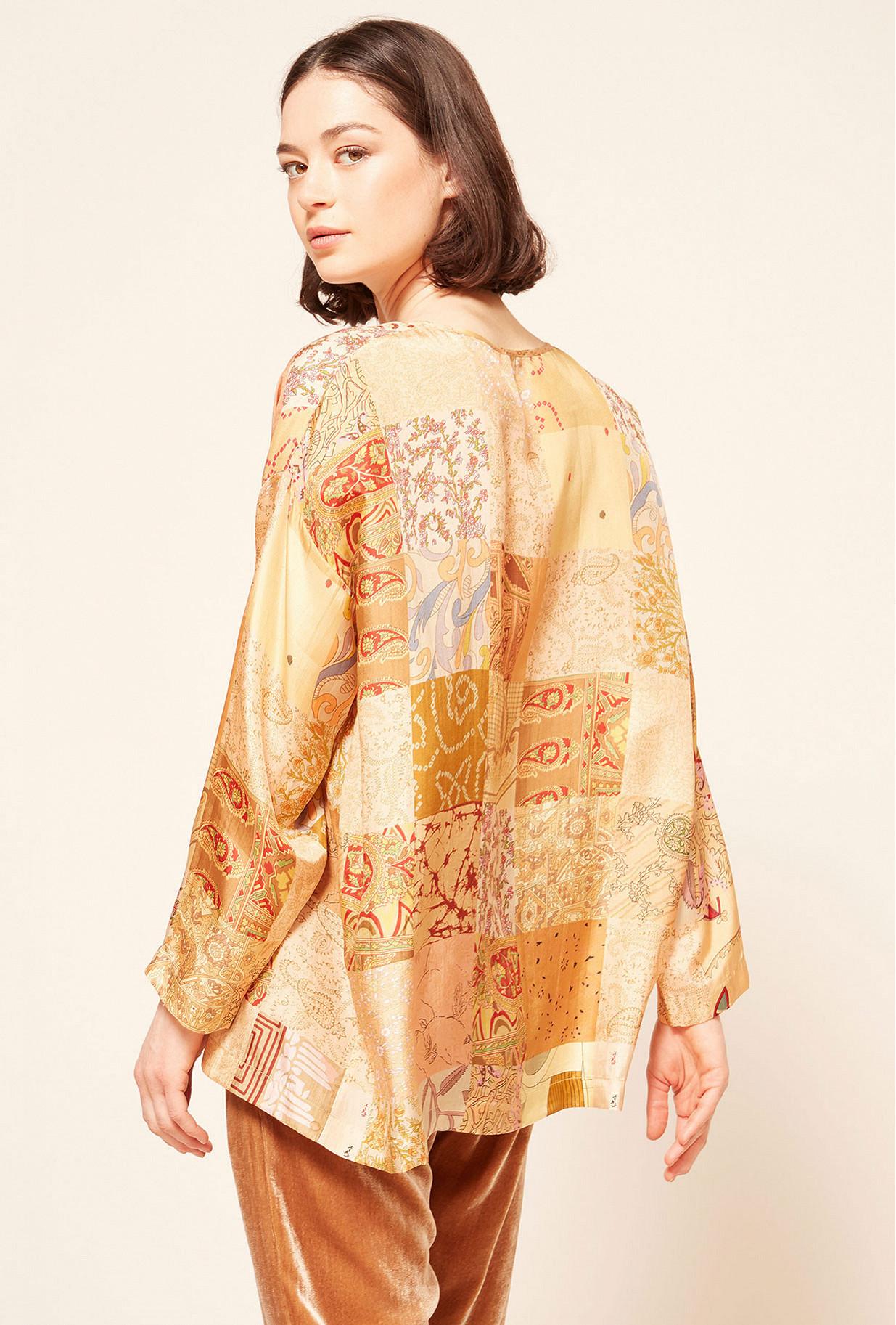 Brown combo  Blouse  Pachtou Mes demoiselles fashion clothes designer Paris