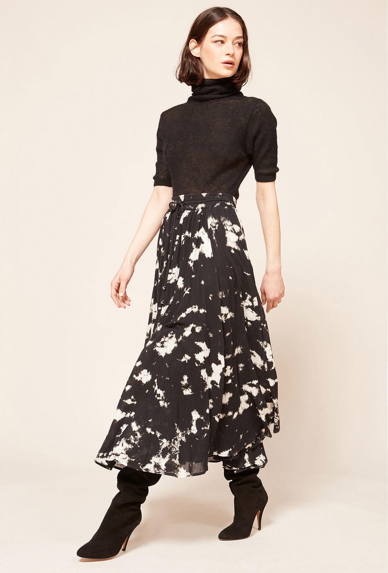 Black  Skirt  Pink Mes demoiselles fashion clothes designer Paris