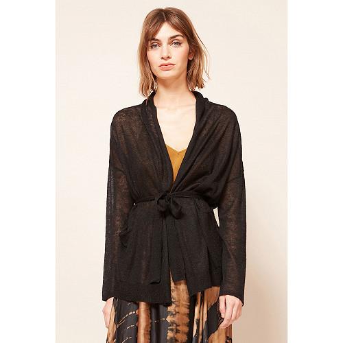 Black  Cardigan  Saxofon Mes demoiselles fashion clothes designer Paris