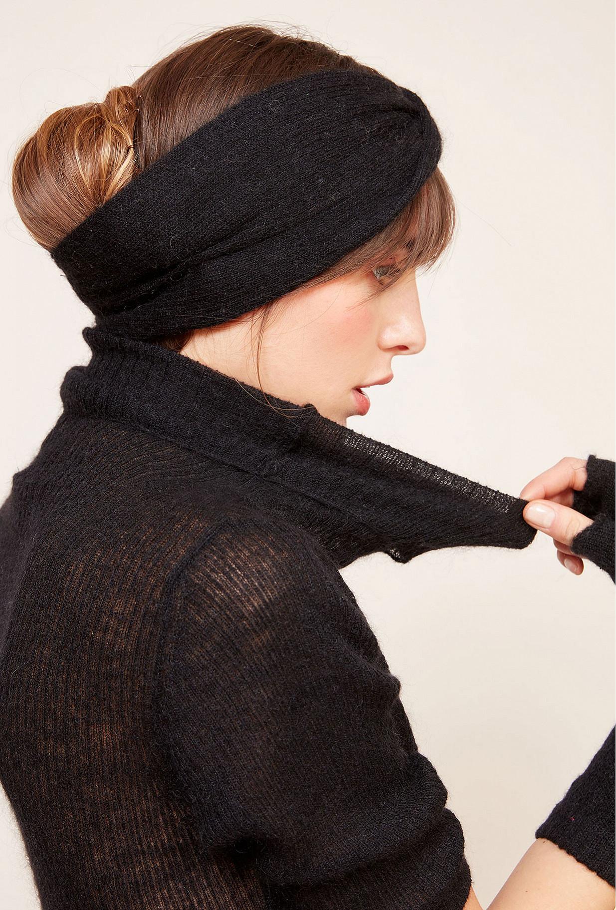 Black  Headband  Shal Mes demoiselles fashion clothes designer Paris