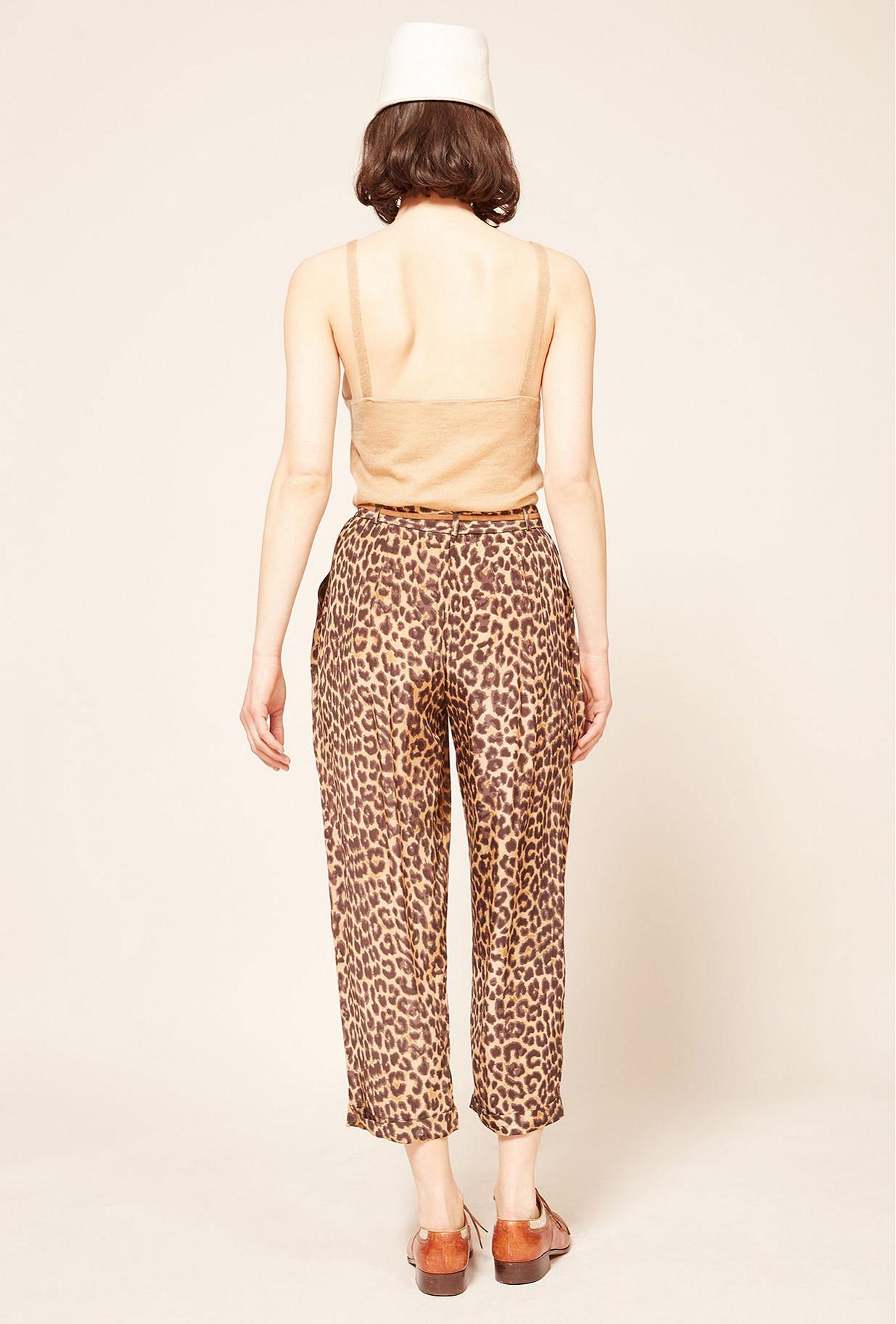 Panther print  pant  Steven Mes demoiselles fashion clothes designer Paris