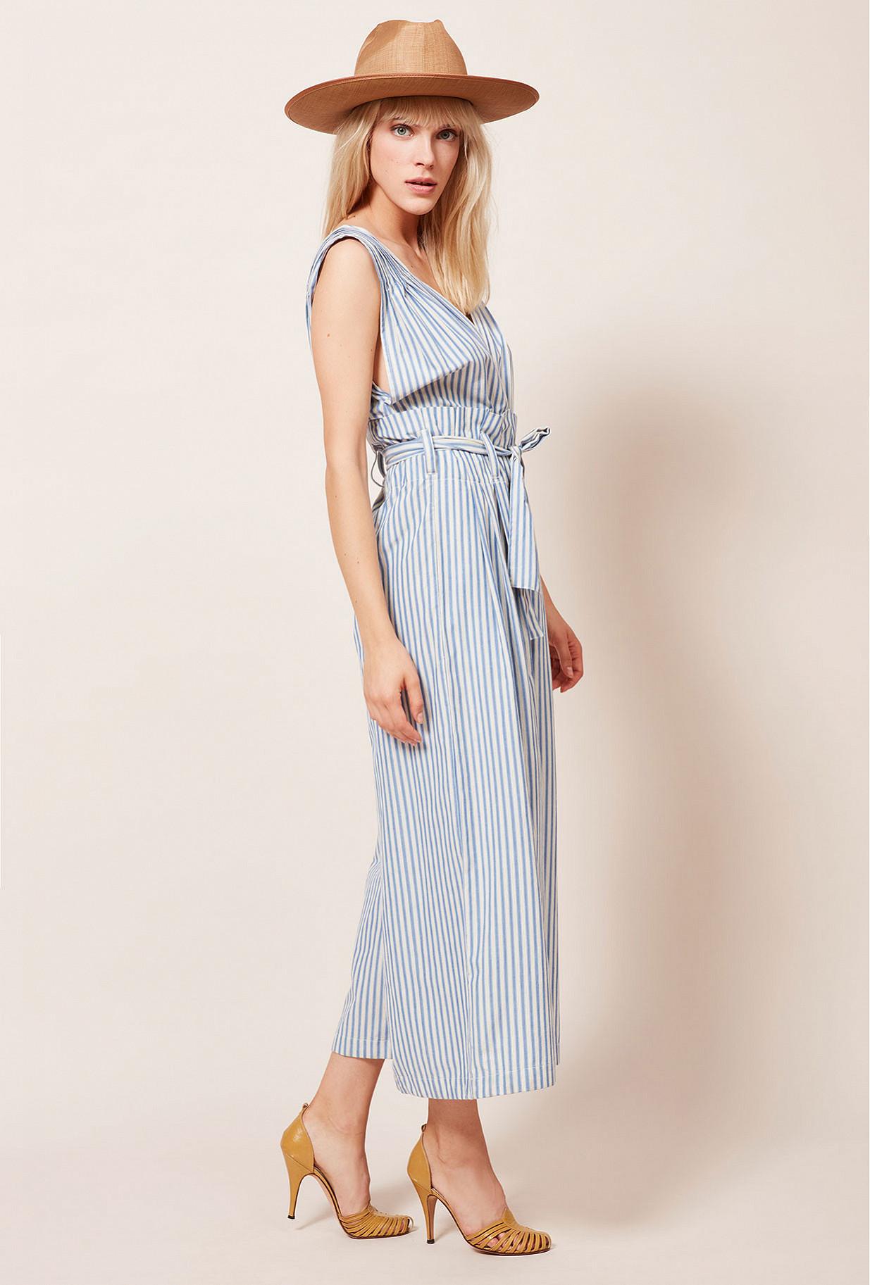 Blue stripe Jumpsuit Classic Mes Demoiselles Paris