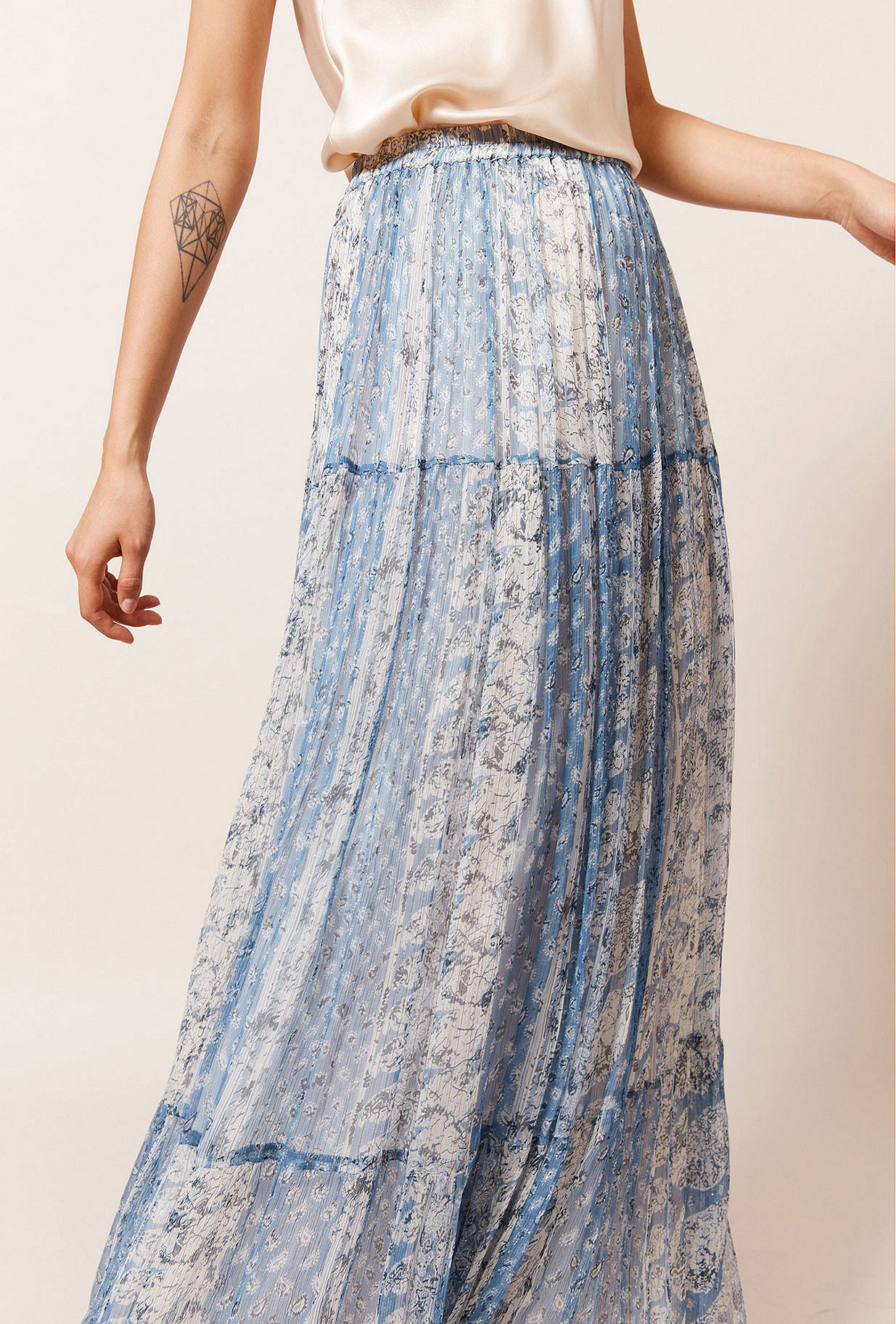 Blue stripe  Skirt  Buenavista Mes demoiselles fashion clothes designer Paris