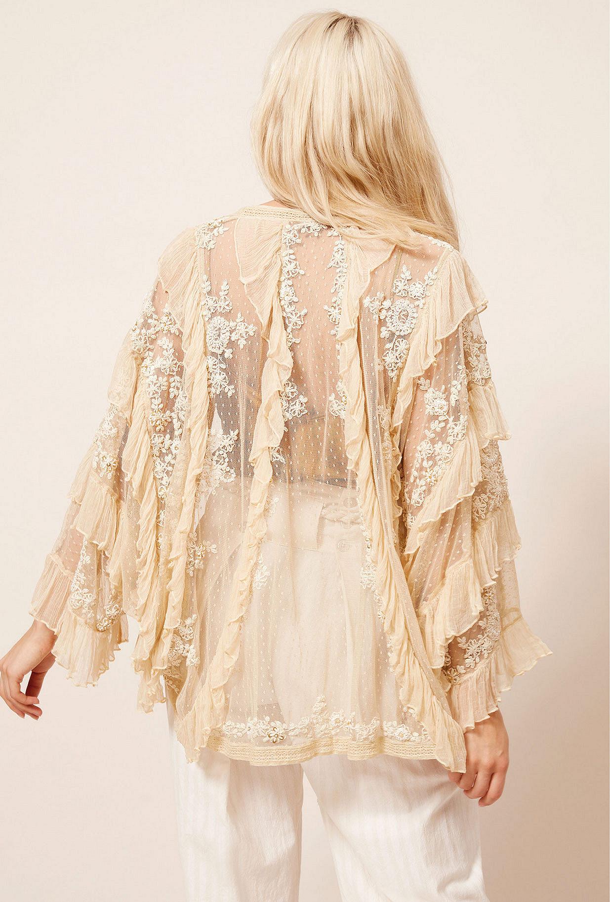 Kimono Ecru  Bee mes demoiselles paris vêtement femme paris