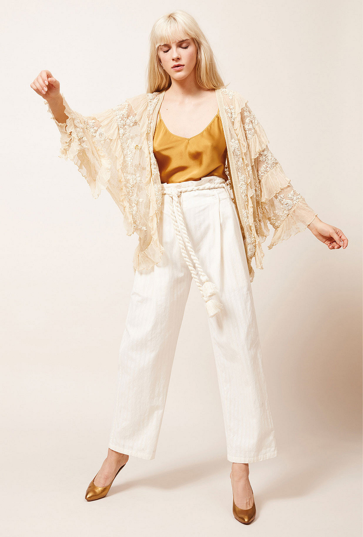 Ecru Kimono Bee Mes Demoiselles Paris