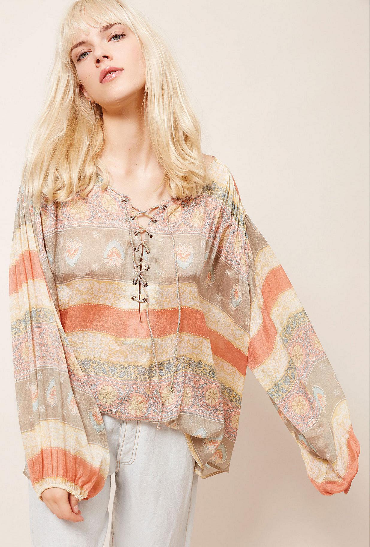 Paris boutique de mode vêtement Blouse créateur bohème Pistache