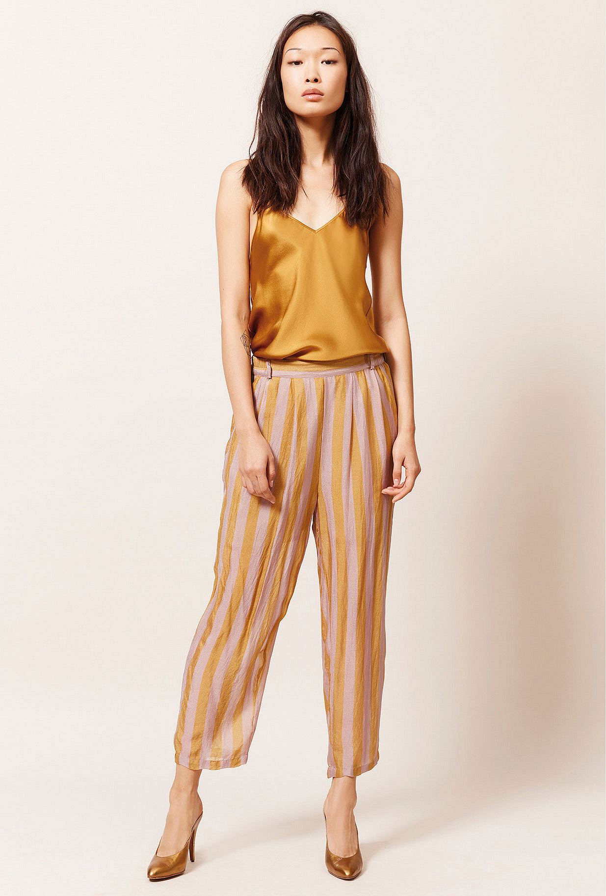 Ocre  Pant  Havas Mes demoiselles fashion clothes designer Paris