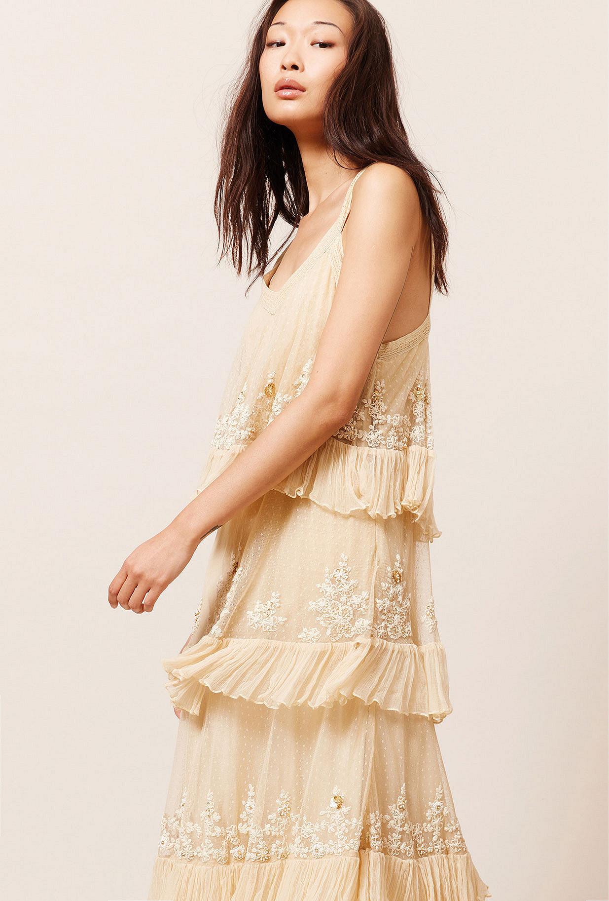Ecru  Dress  Beachella Mes demoiselles fashion clothes designer Paris